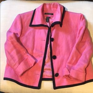 Ralph Lauren pink linen blazer 8